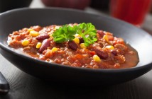 Beef Chili Con Carne with corn, beans and tomatoes