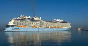 The Anthem of the Seas, Royal Caribbean's second Quantum Class ship arriving in Southamtpon