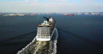 Carnival ship arriving in Helen Delich Bentley Port of Baltimore