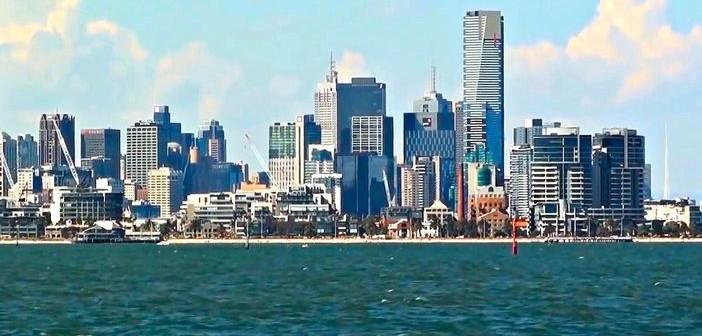 The skyline of Melbourne city, Australia