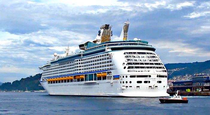 Royal Caribbean ship leaving Vigo