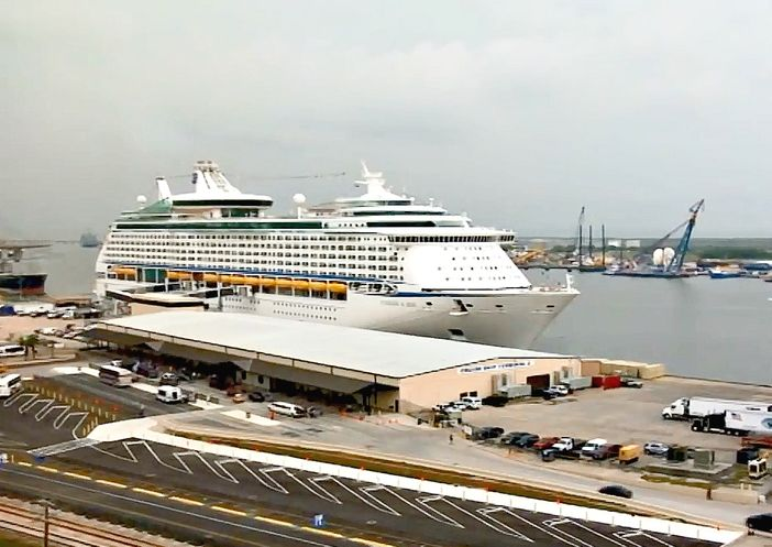 Galveston Cruise Ship Port Cruise Panorama