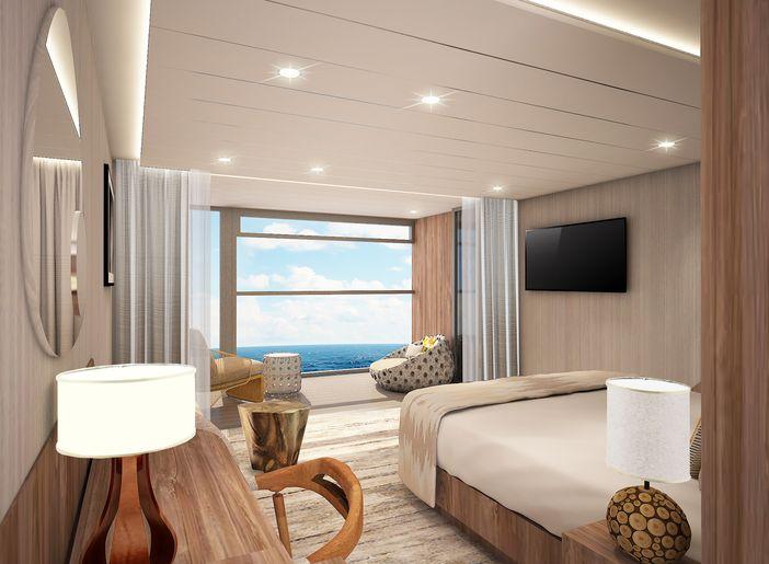 Celebrity Flora's Sky suite rendering