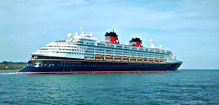 Disney Cruise Line ship's departure