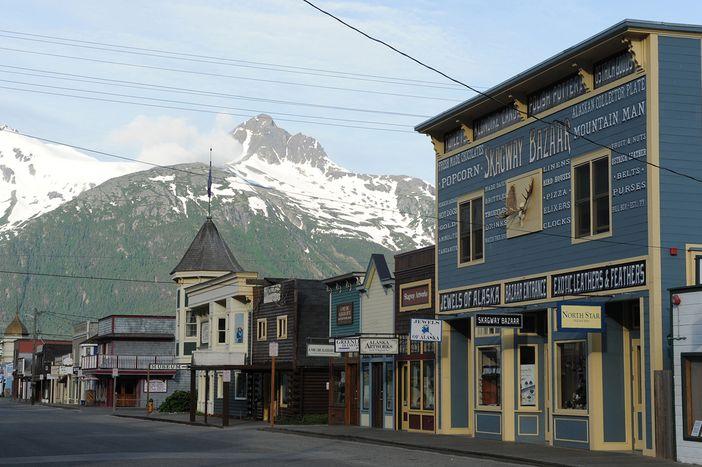Broadway street in Skaway, Alaska