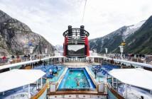Disney Wonder sailing Tracy Arm Fjords in Alaska