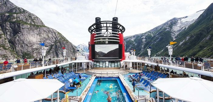 Disney Wonder sailing Tracy Arm Fjords in Alaska