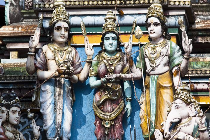 Front of a Vishnu Temple in Cochin