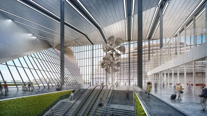 Grand Hall design of RCL's new terminal in PortMiami