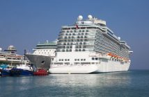 Mediterranean cruise holidays : ships in port of Kusadasi, Turkey