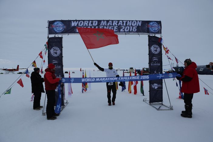 Marathon run in Antarctica