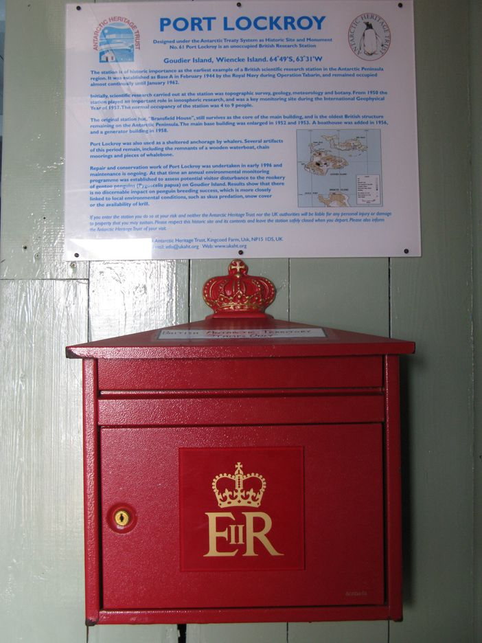Mail box in Port Lockroy, Antarctica