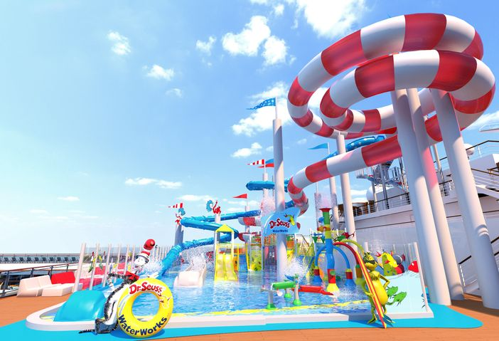 Carnival Horizon, first CCL ship to highlight the Dr. Seuss WaterWorks