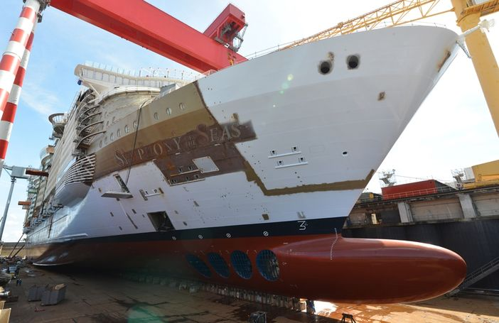Royal Caribbean S Symphony Of The Seas Is Floated Out Of