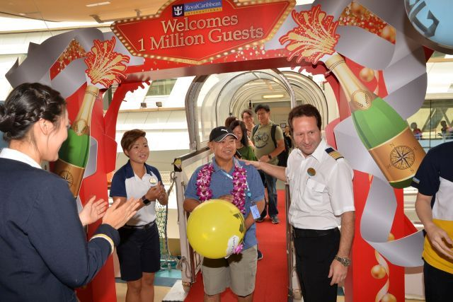 Royal Caribbean's millionth cruise guest