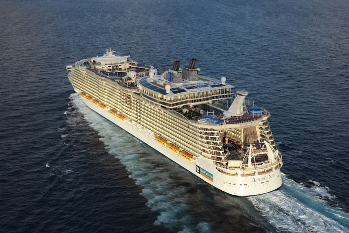 Aerial view of Allure of the Seas