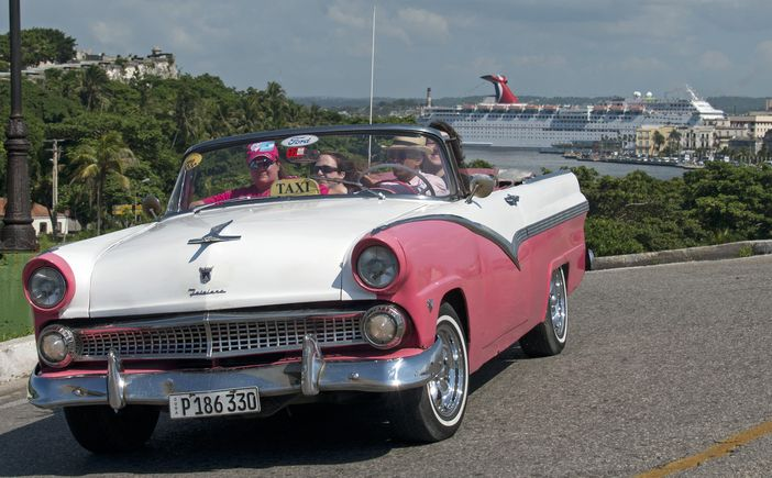 Cuban vintage taxi car