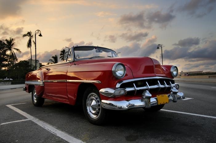 Cuba symbols: American vintage car