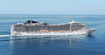 MSC Splendida sailing