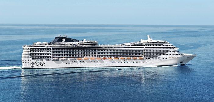 MSC Splendida sailing