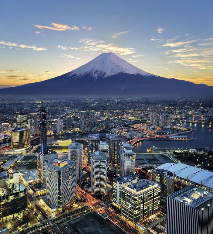 Mount Fuji and Yokohama, Japan