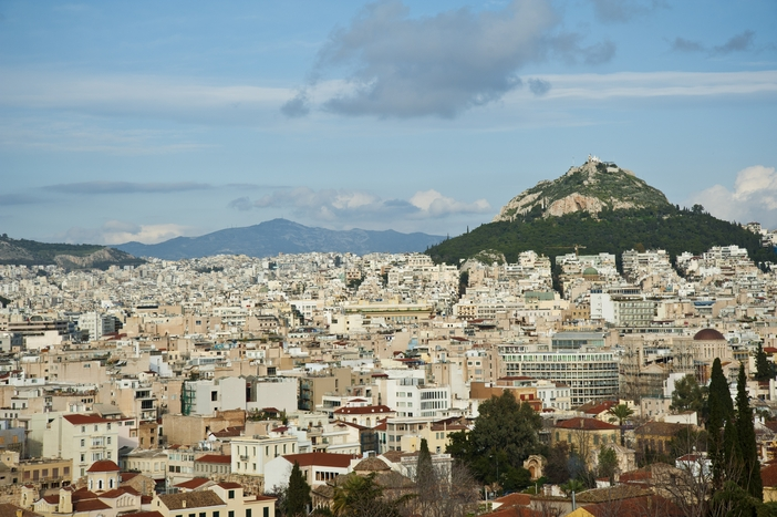 City of Athens and the Lycabettus mountain