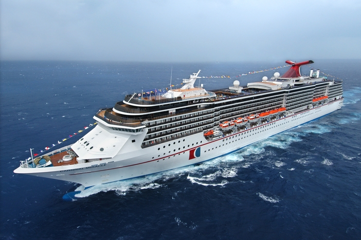 Carnival Miracle ship at sea