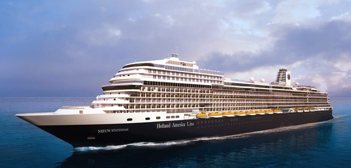 Rendering of Holland America's new ship, Nieuw Statendam