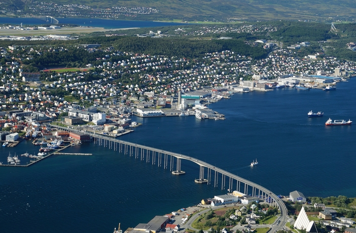 Tromso city and bridge