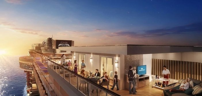 Rendering of a private balcony on Sky Princess