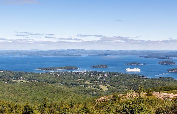 View of cruise port, Bar Harbor, Maine
