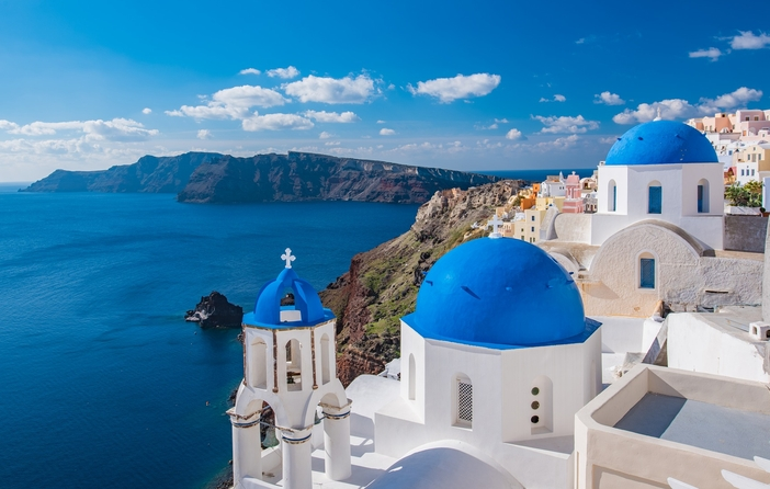 Typical view of Santorini