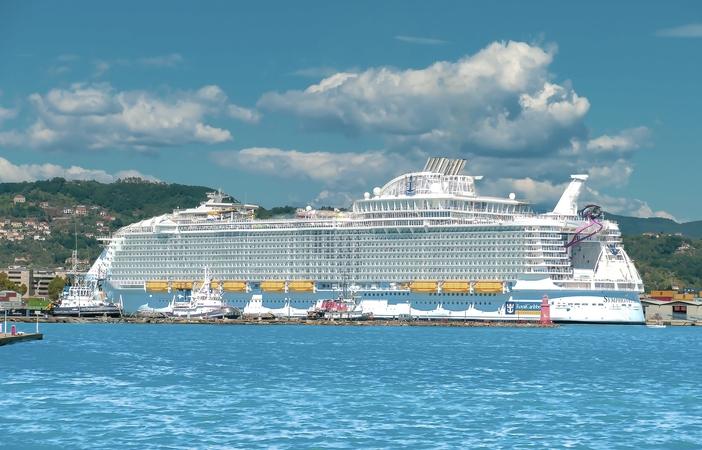 Symphony of the Seas port side
