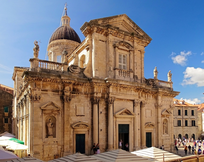 Cathedral in the old town of Dubrovnik