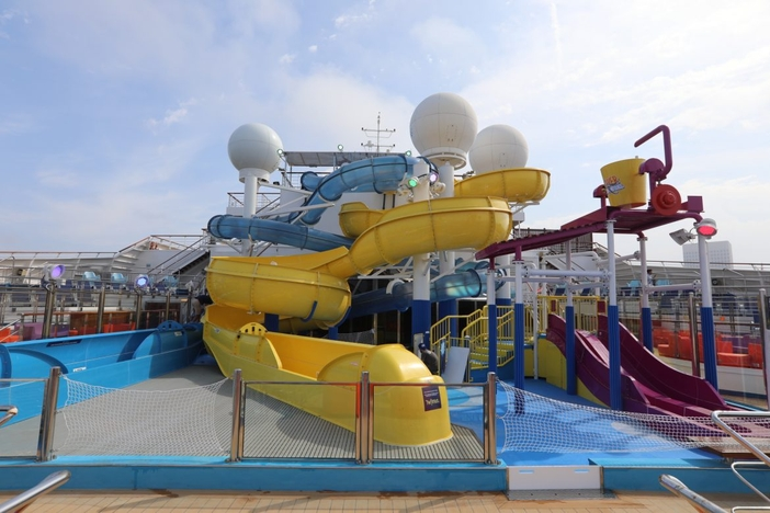 Water slides on Carnival Freedom