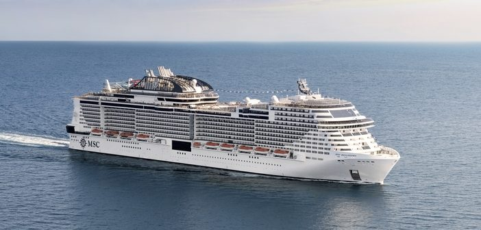 MSC Bellissima at sea