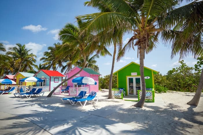 Colorful cabanas