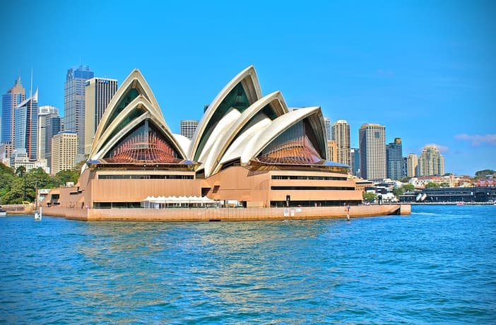 Front view of Sydney Opera House