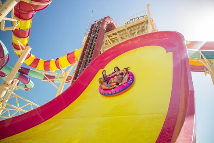 Fun things to do in Perfect Day at CocoCay: Colorful multi-rider slides