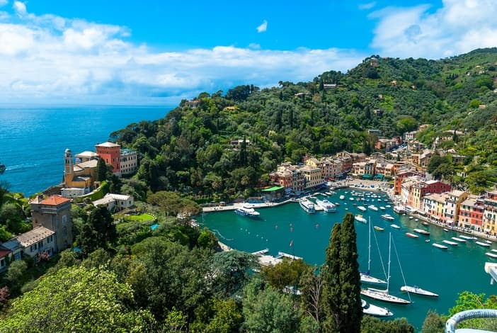 Portofino, a view from the mountain