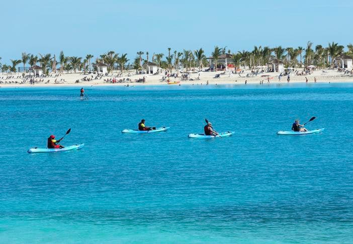 Kayaking at Ocean Cay